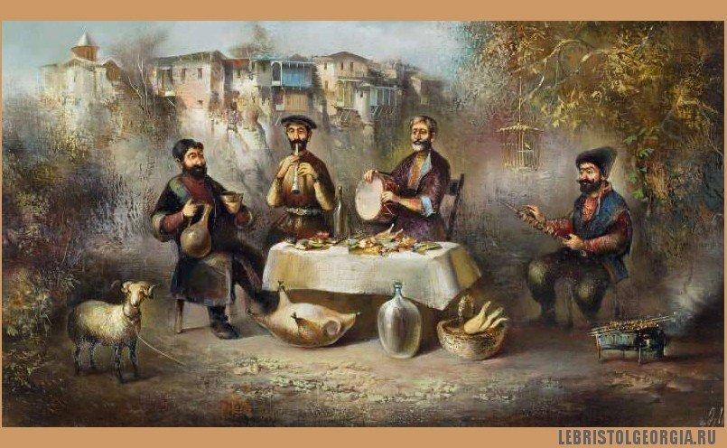 грузинский художник Важа Месхи