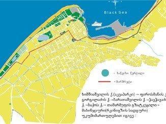 Центр Батуми на карте
