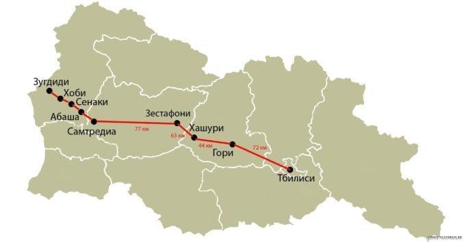 Поезд из Тбилиси в Зугдиди