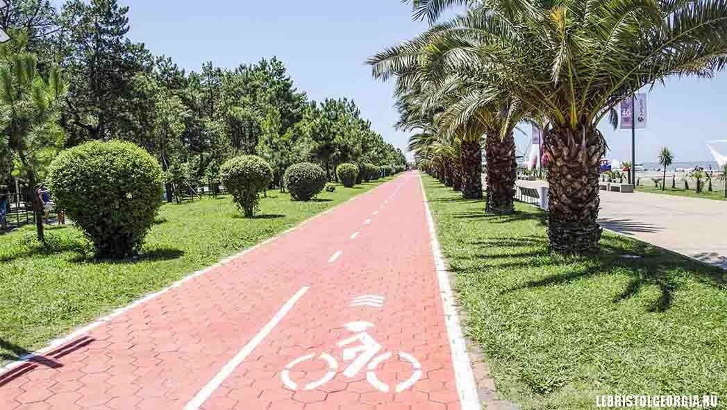 велосипедная дорожка батуми