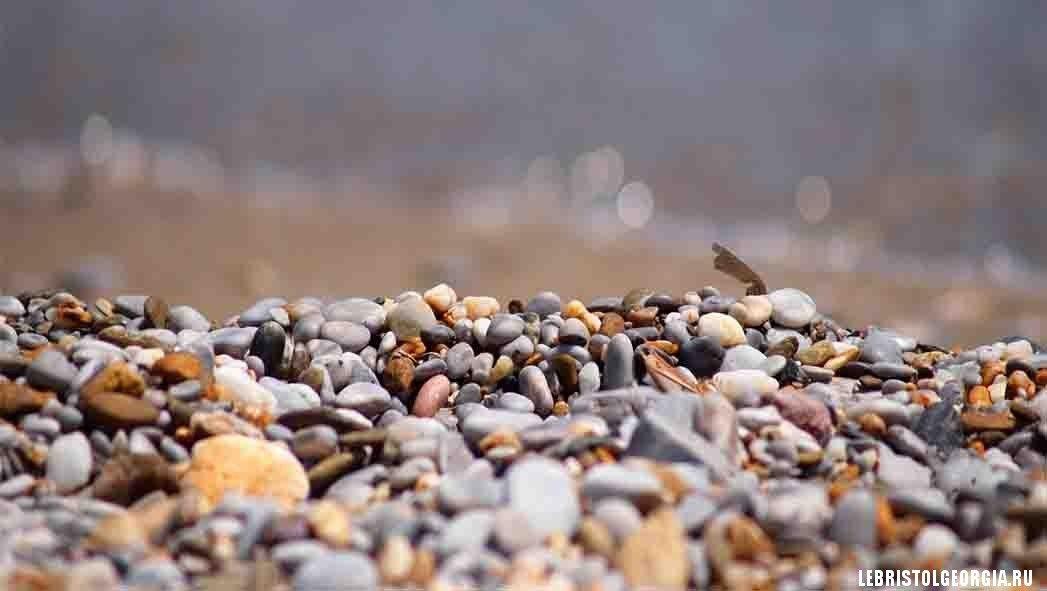 на пляжах Грузии