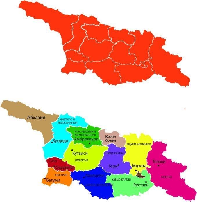 общая карта Грузии