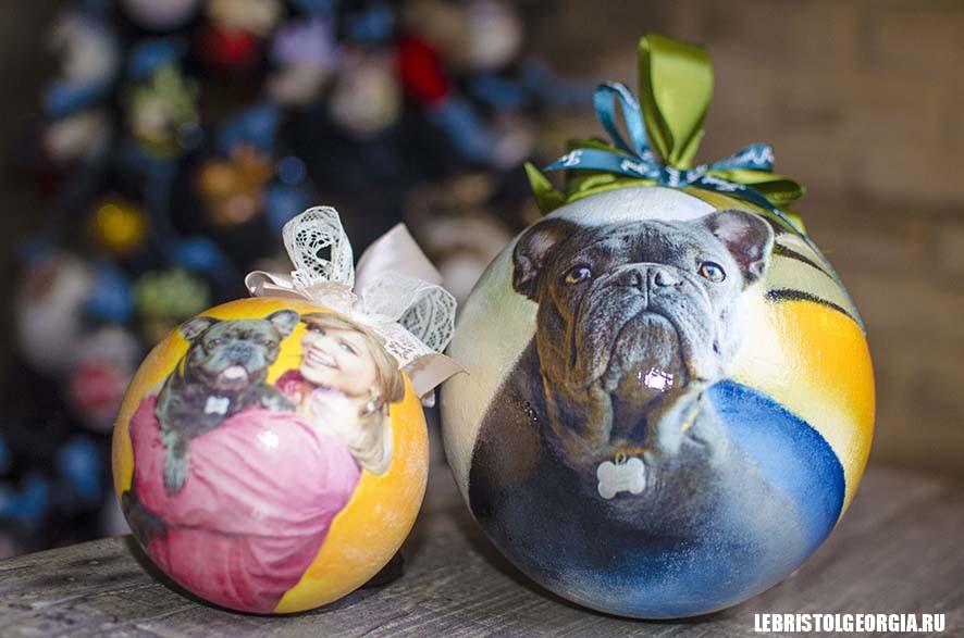 елочные шары с фото
